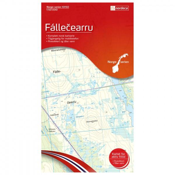 Nordeca - Wander-Outdoorkarte: Fallecearru 1/50 - Mapa de senderos