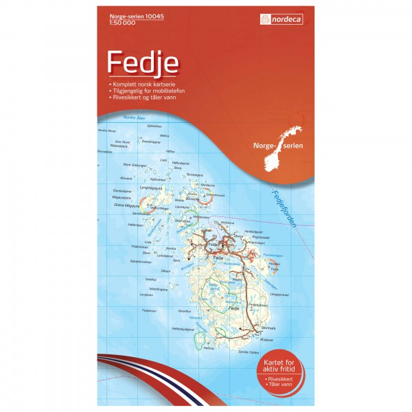Nordeca - Wander-Outdoorkarte: Fedje 1/50 - Turkart