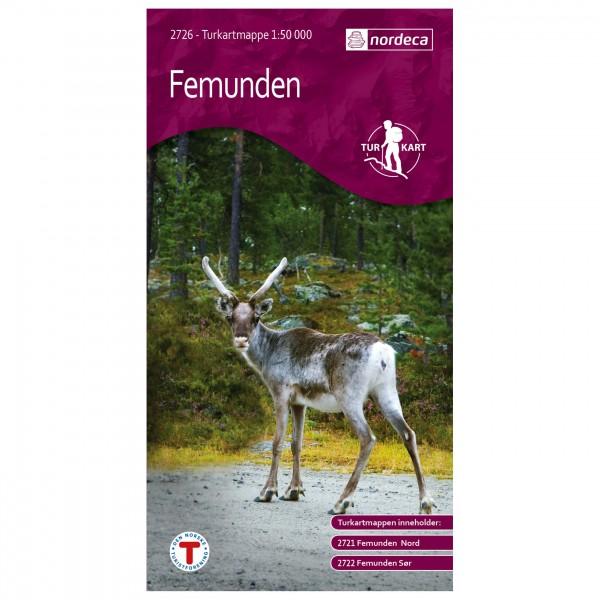 Nordeca - Wander-Outdoorkarte: Femunden 1/50 - Hiking map