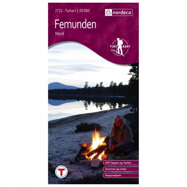 Nordeca - Wander-Outdoorkarte: Femunden Nord 1/50 - Vaelluskartat