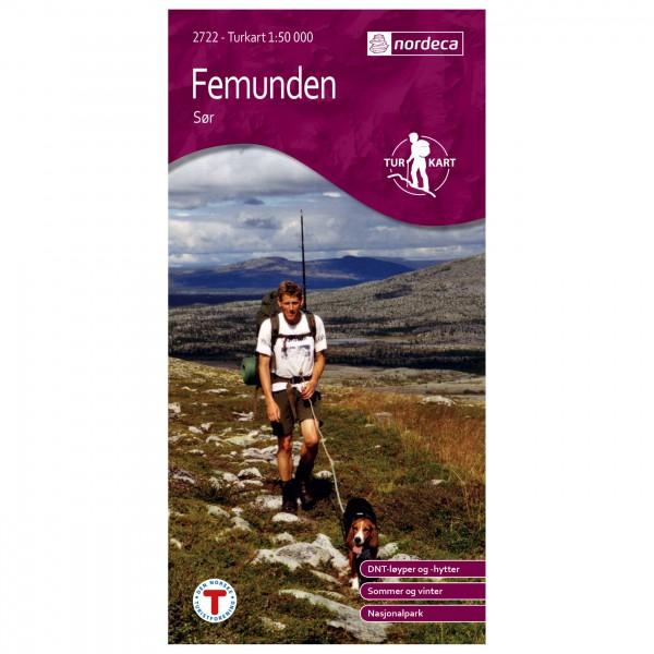 Nordeca - Wander-Outdoorkarte: Femunden Sør 1/50 - Wanderkarte