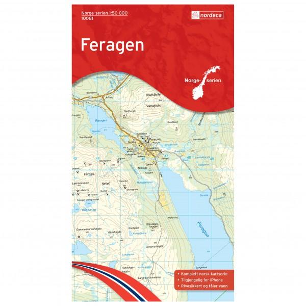 Nordeca - Wander-Outdoorkarte: Feragen 1/50 - Wandelkaart