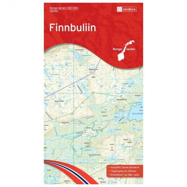 Nordeca - Wander-Outdoorkarte: Finnbuliin 1/50 - Vandringskartor