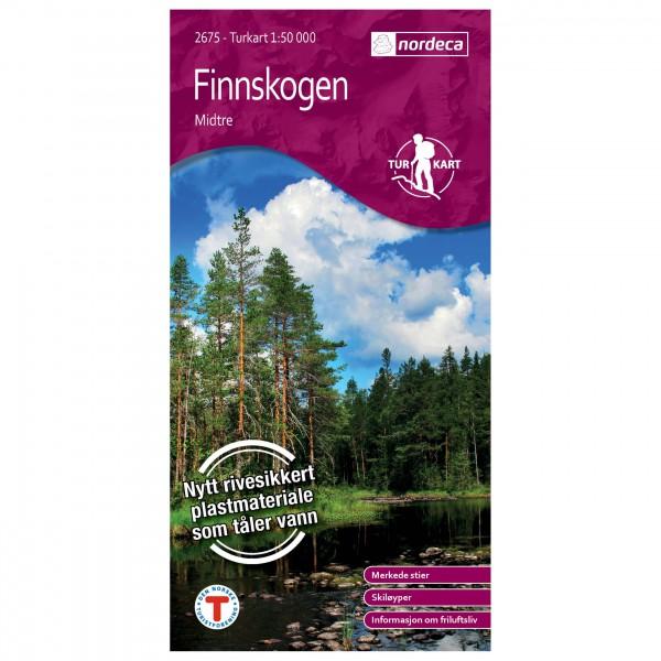 Nordeca - Wander-Outdoorkarte: Finnskogen Midtre 1/50 - Carte de randonnée
