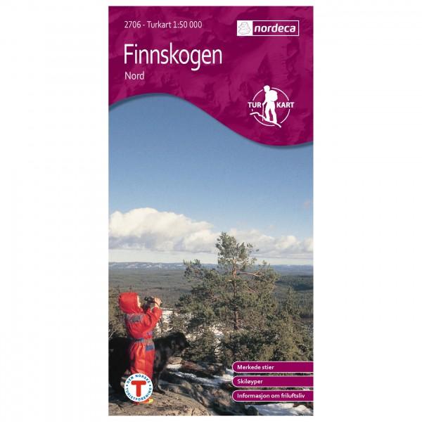 Nordeca - Wander-Outdoorkarte: Finnskogen Nord 1/50 - Wandelkaarten