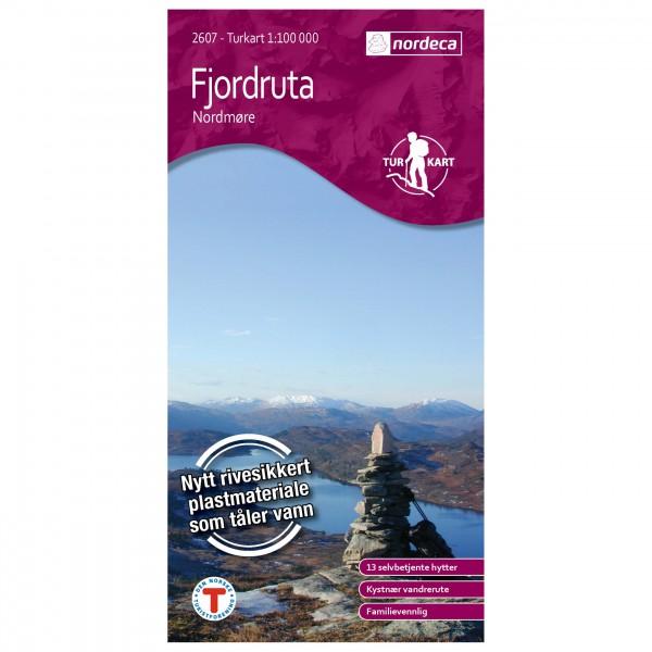 Nordeca - Wander-Outdoorkarte: Fjordruta 1/100 - Hiking map