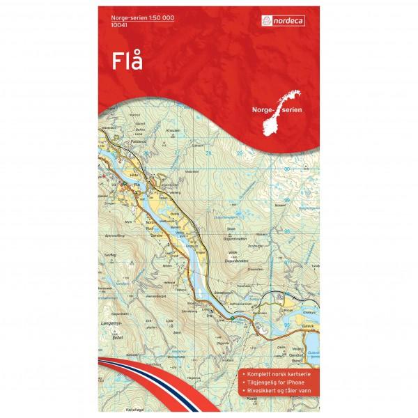 Nordeca - Wander-Outdoorkarte: Flå 1/50 - Turkart