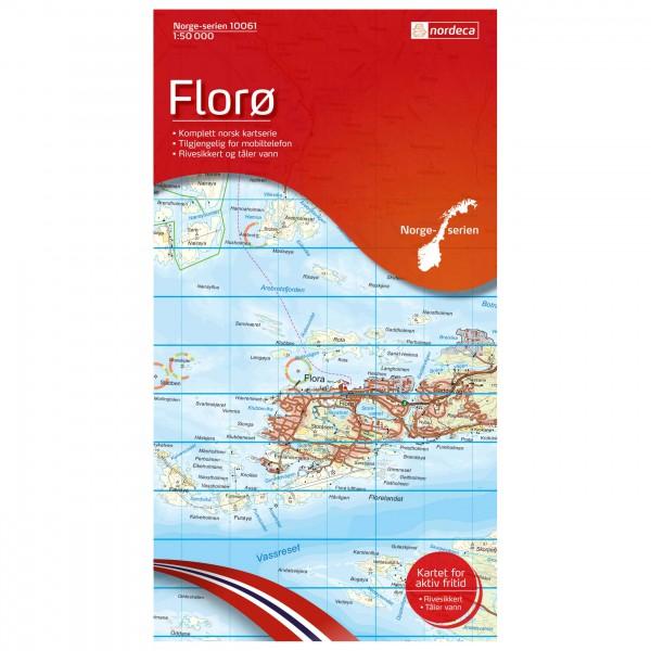 Nordeca - Wander-Outdoorkarte: Florø 1/50 - Vaelluskartat