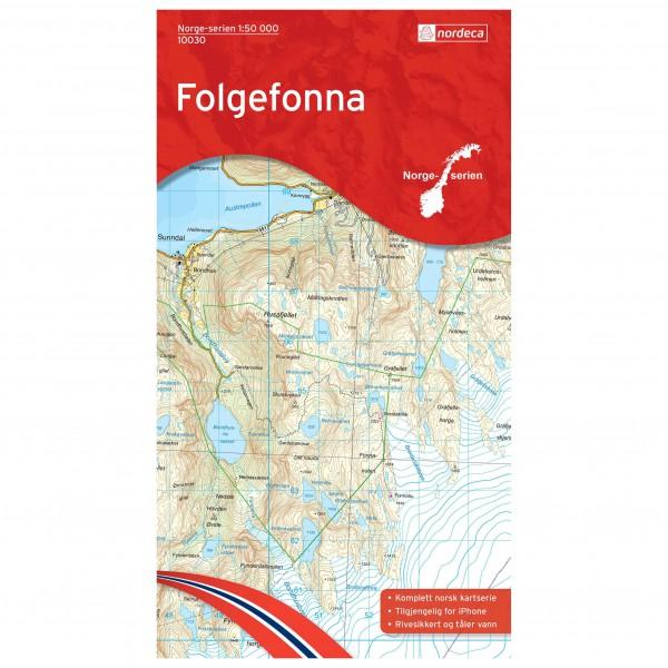 Nordeca - Wander-Outdoorkarte: Folgefonna 1/50 - Wandelkaarten