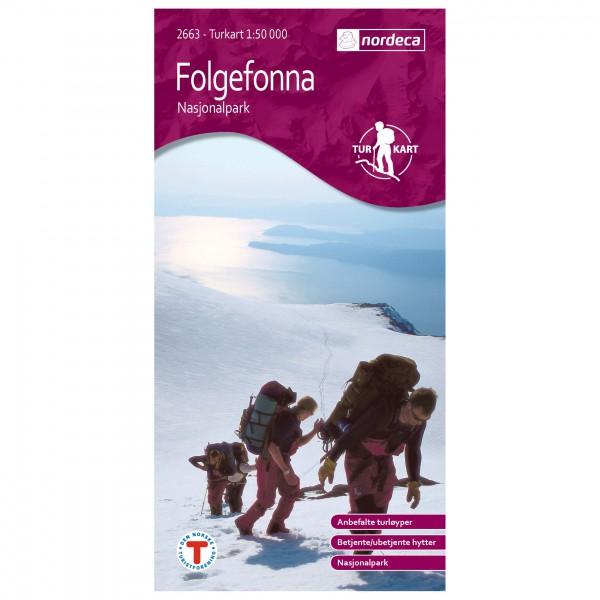 Nordeca - Wander-Outdoorkarte: Folgefonna Nasjonalpark 1/50 - Hiking map