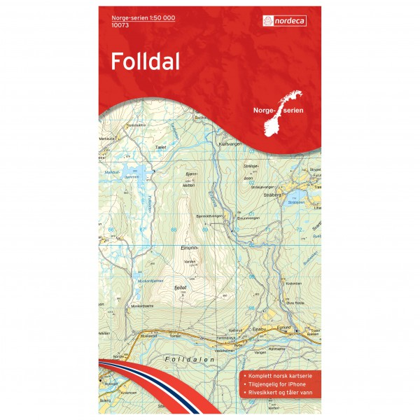 Nordeca - Wander-Outdoorkarte: Folldal 1/50 - Wandelkaart