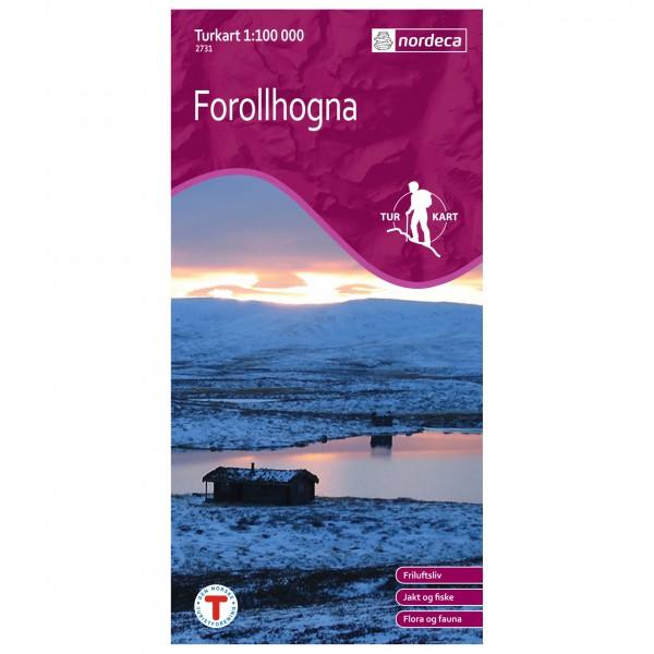 Nordeca - Wander-Outdoorkarte: Forollhogna 1/100