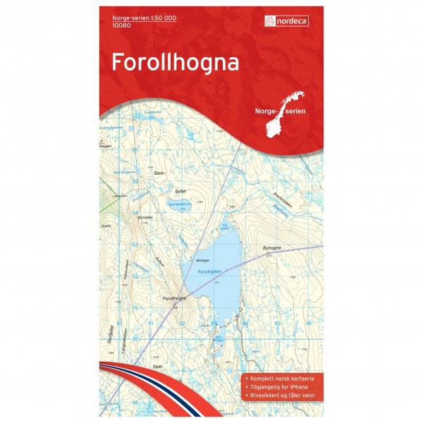 Nordeca - Wander-Outdoorkarte: Forollhognal 1/50
