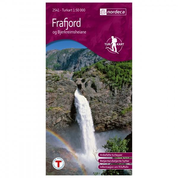 Nordeca - Outdoorkarte: Frafjord-Bjerkreimsheiane 1/50 - Vandrekort