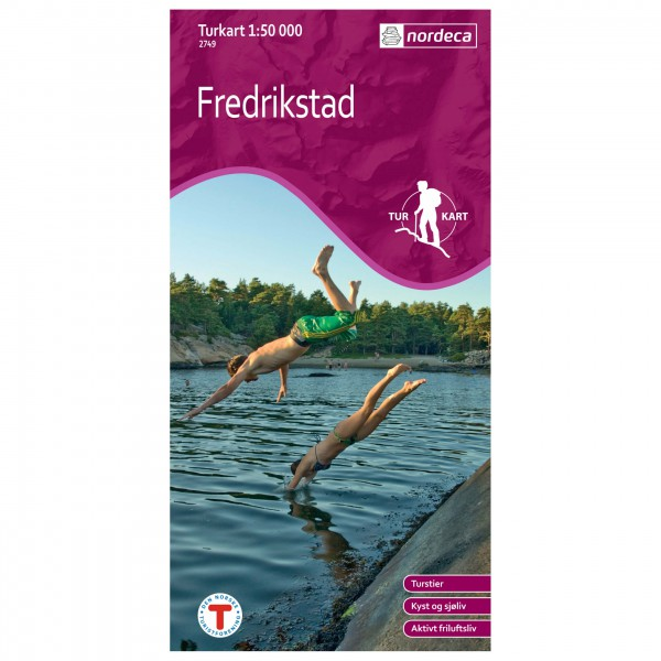 Nordeca - Wander-Outdoorkarte: Fredrikstad 1/50 - Turkart