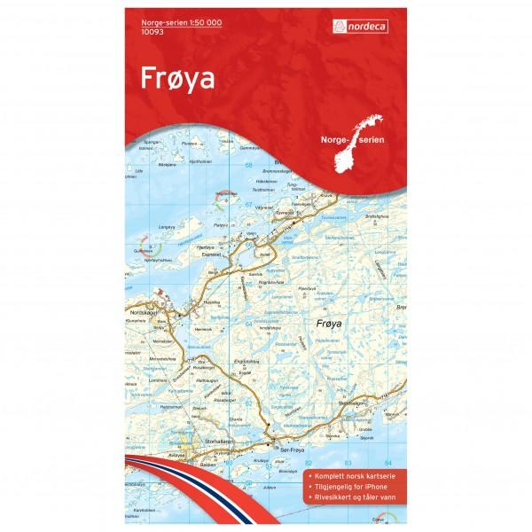 Nordeca - Wander-Outdoorkarte: Frøya 1/50 - Vandrekort