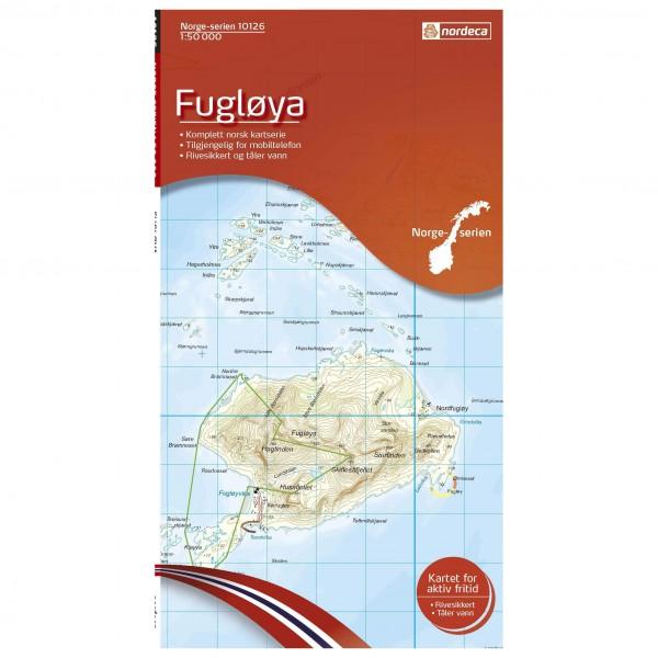 Nordeca - Wander-Outdoorkarte: Fugloya 1/50 - Vandringskartor