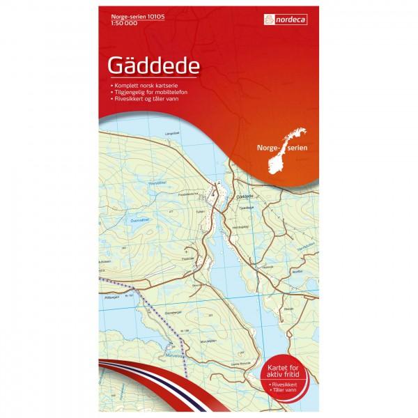 Nordeca - Wander-Outdoorkarte: Gäddede 1/50 - Vandringskartor