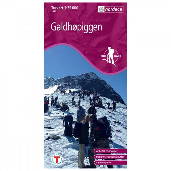 Nordeca - Wander-Outdoorkarte: Galdhøpiggen 1/25 - Vaelluskartat