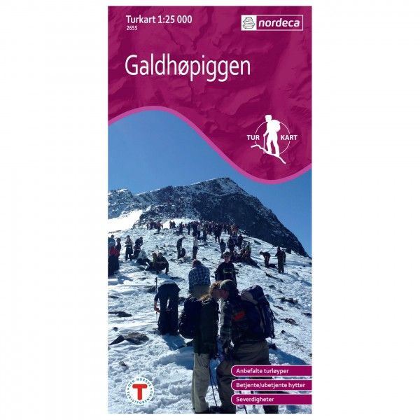 Nordeca - Wander-Outdoorkarte: Galdhøpiggen 1/25 - Wanderkarte