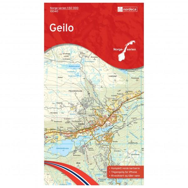 Nordeca - Wander-Outdoorkarte: Geilo 1/50 - Hiking map