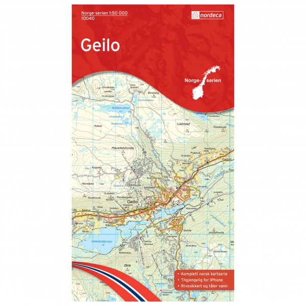 Nordeca - Wander-Outdoorkarte: Geilo 1/50