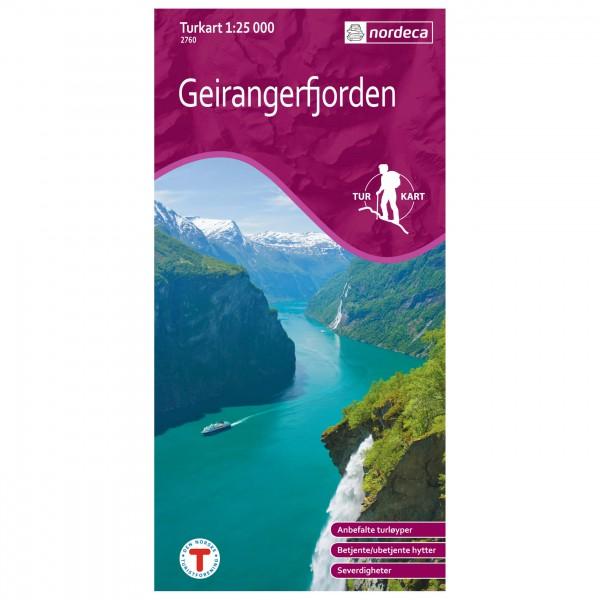 Nordeca - Wander-Outdoorkarte: Geirangerfjorden 1/25 - Vaelluskartat