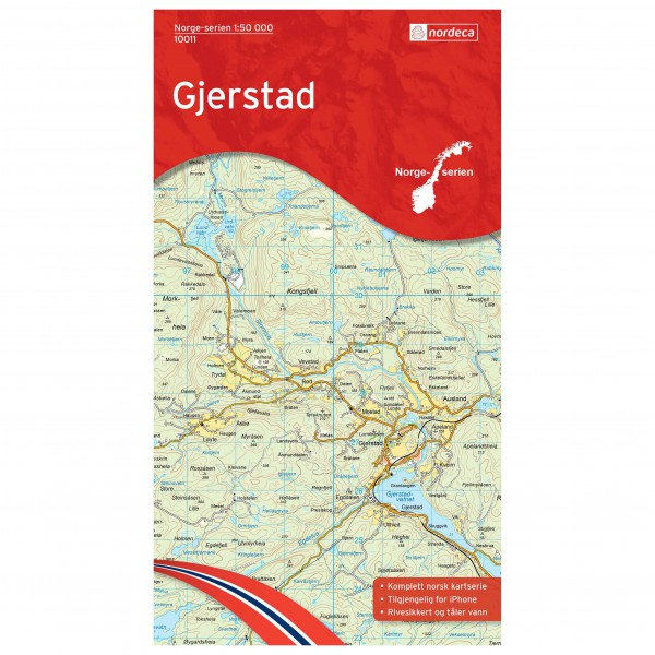 Nordeca - Wander-Outdoorkarte: Gjerstad 1/50 - Hiking map