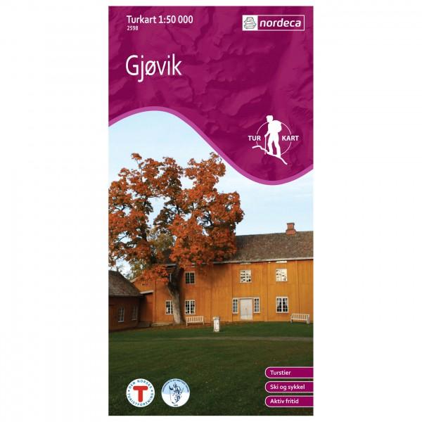 Nordeca - Wander-Outdoorkarte: Gjøvik 1/50 - Hiking map
