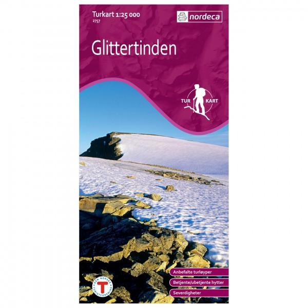 Nordeca - Wander-Outdoorkarte: Glittertinden 1/25 - Wanderkarte