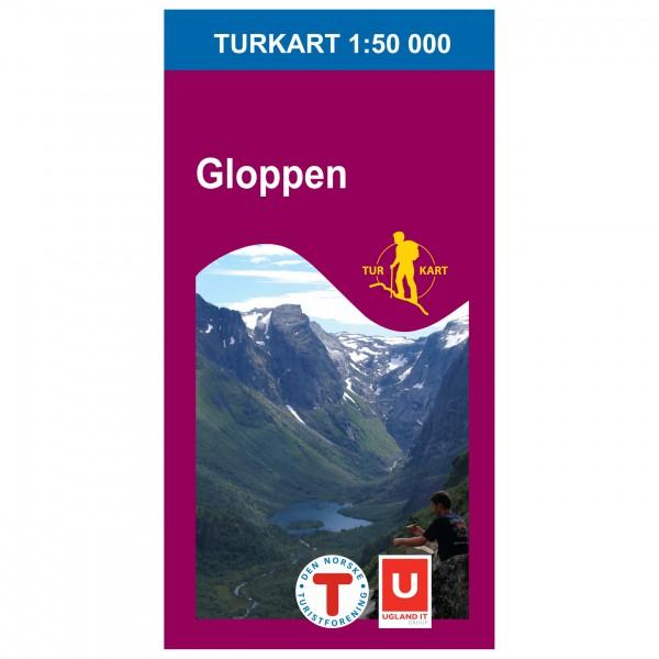 Nordeca - Wander-Outdoorkarte: Gloppen 1/50 - Mapa de senderos