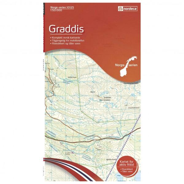 Nordeca - Wander-Outdoorkarte: Graddis 1/50 - Vaelluskartat