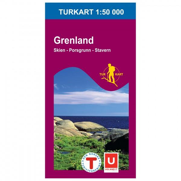 Nordeca - Wander-Outdoorkarte: Grenland 1/50