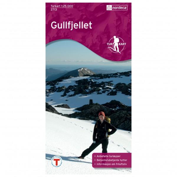 Nordeca - Wander-Outdoorkarte: Gullfjellet 1/25 - Vaelluskartat