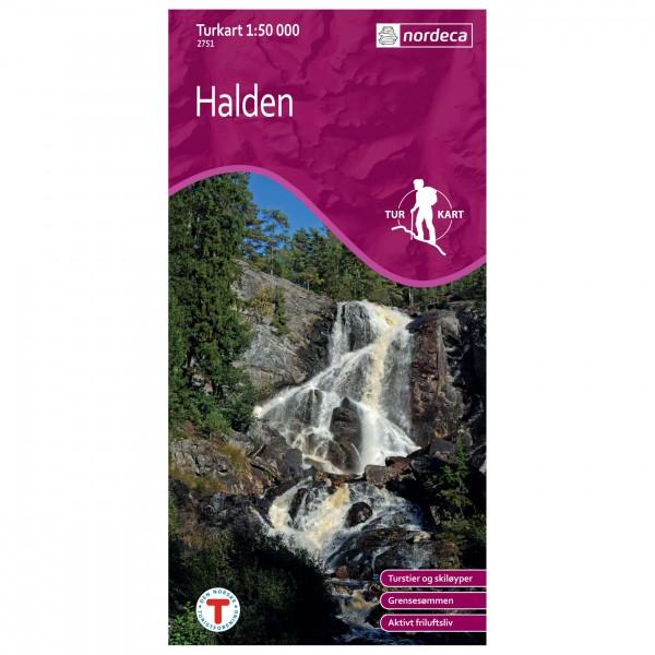 Nordeca - Wander-Outdoorkarte: Halden 1/50 - Hiking map
