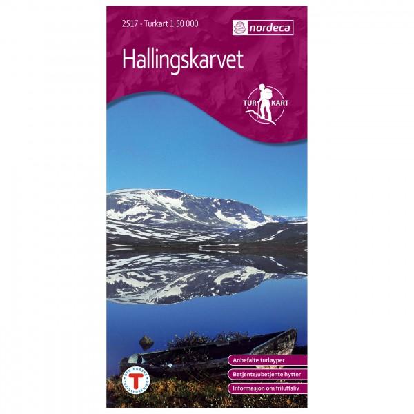 Nordeca - Wander-Outdoorkarte: Hallingskarvet 1/50 - Wanderkarte