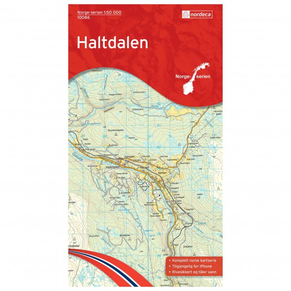 Nordeca - Wander-Outdoorkarte: Haltdalen 1/50 - Vandringskartor