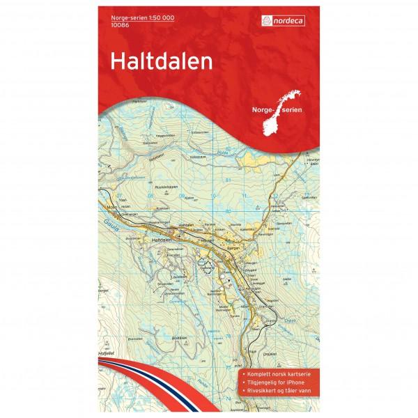 Nordeca - Wander-Outdoorkarte: Haltdalen 1/50 - Wanderkarte
