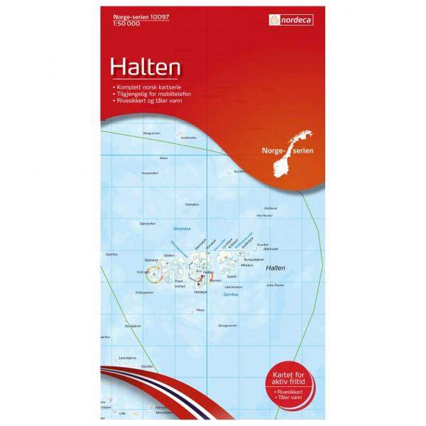 Nordeca - Wander-Outdoorkarte: Halten 1/50 - Wandelkaarten