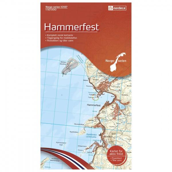 Nordeca - Wander-Outdoorkarte: Hammerfest 1/50 - Vaelluskartat