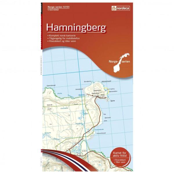 Nordeca - Wander-Outdoorkarte: Hamningberg 1/50 - Wanderkarte