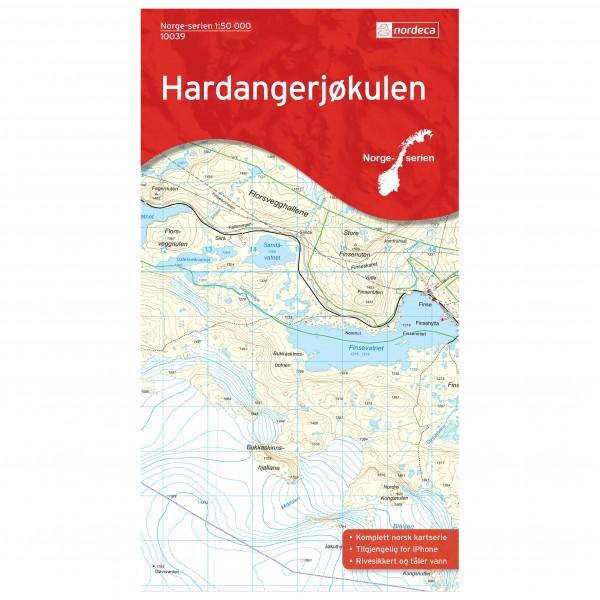 Nordeca - Wander-Outdoorkarte: Hardangerjøkulen 1/50 - Wandelkaarten