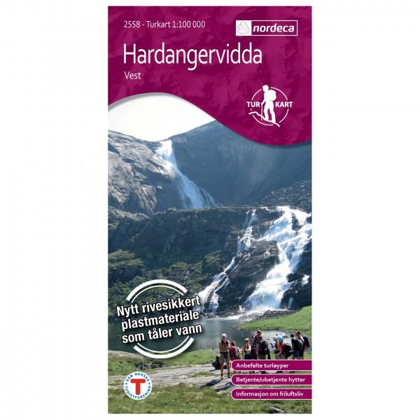 Nordeca - Wander-Outdoorkarte: Hardangervidda Vest 1/100 - Hiking map