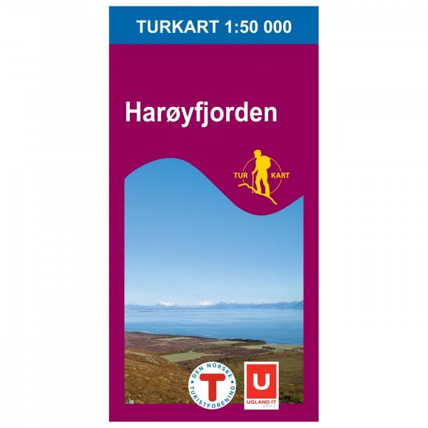 Nordeca - Wander-Outdoorkarte: Harøyfjorden 1/50 - Mapa de senderos