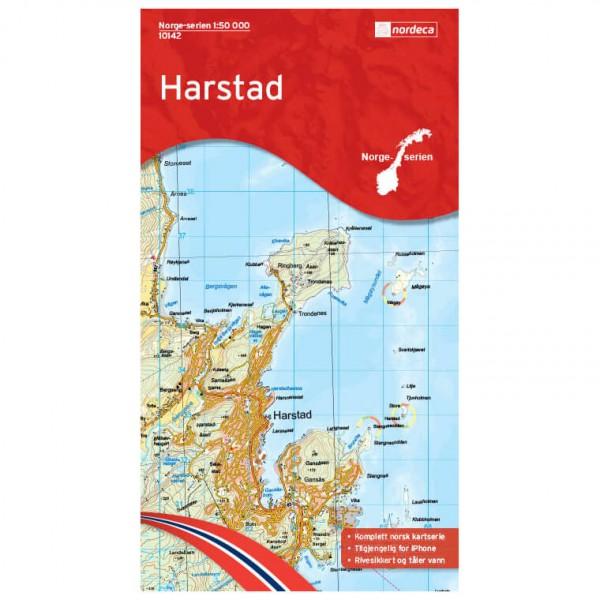 Nordeca - Wander-Outdoorkarte: Harstad 1/50