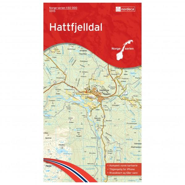 Nordeca - Wander-Outdoorkarte: Hattfjelldal 1/50 - Vaelluskartat