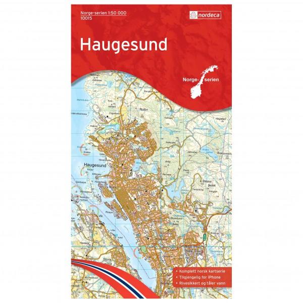 Nordeca - Wander-Outdoorkarte: Haugesund 1/50 - Mapa de senderos