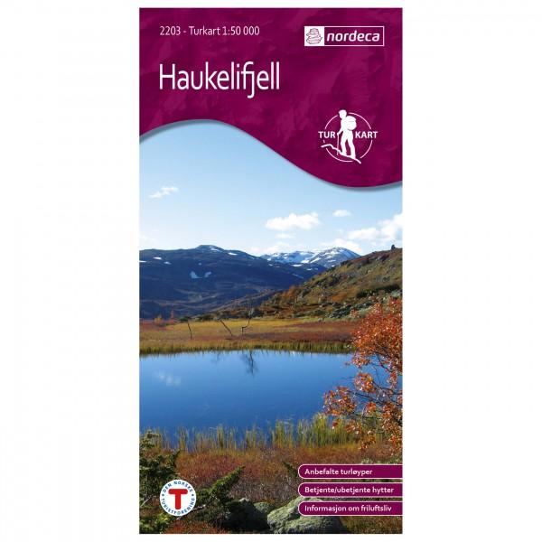 Nordeca - Wander-Outdoorkarte: Haukelifjell 1/50 - Vandrekort