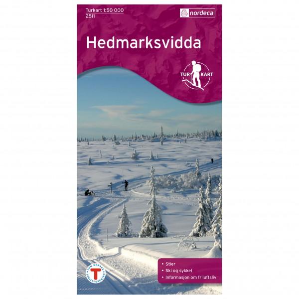 Nordeca - Wander-Outdoorkarte: Hedmarksvidda 1/50 - Vandringskartor