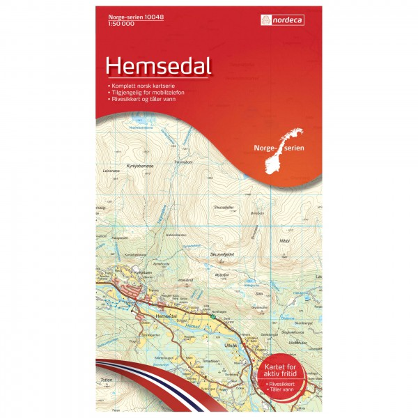 Nordeca - Wander-Outdoorkarte: Hemsedal 1/50 - Vaelluskartat